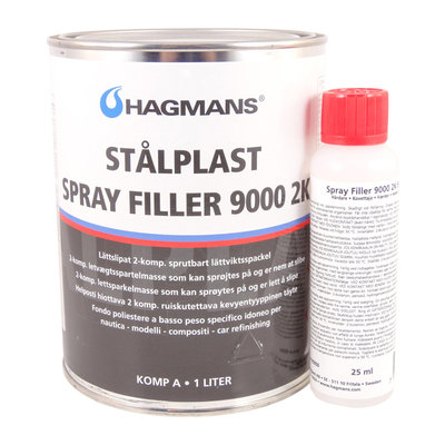 Hagmans Stålplast Spray Filler 9000 2K