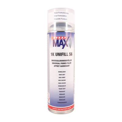 SprayMax 1K Unifill S6 Mörkgrå 500 ml