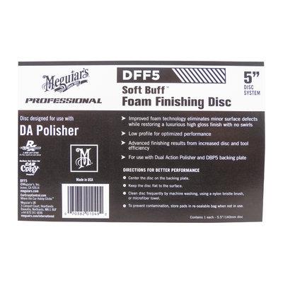 """Meguiars DFF5 DA Foam Finishing Disc 5"""" 125mm"""