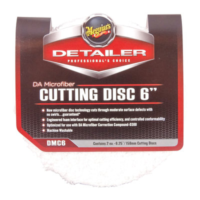"Meguiars DMC6 DA Microfiber Cutting Disc 6"" 150mm 2-Pack"