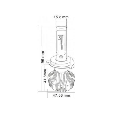 Ledson LED strålkastarlampor H4 12-24V